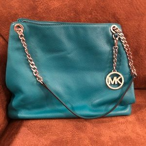 Michael Korda teal purse